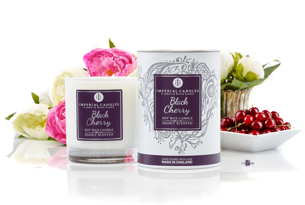 Imperial Candle Black Cherry jewellery in candles